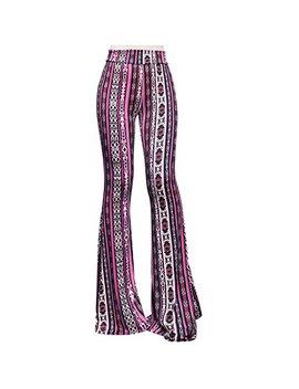 Smt Women's High Waist Wide Leg Long Palazzo Bell Bottom Yoga Pants by Shop My Trend