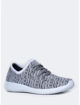 Knit Low Heel Sneaker by Zooshoo