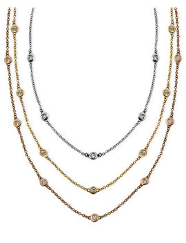 Trio By Effy Diamond Station Necklaces by Effy Collection