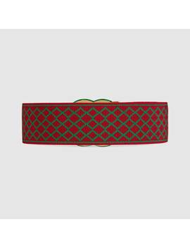 Elastic Belt With Double&Nbsp;G by Gucci