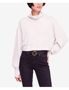 Waffle Knit Cropped Turtleneck by Free People