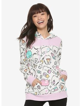 Pusheen Pastel Colorblock Girls Hoodie by Hot Topic
