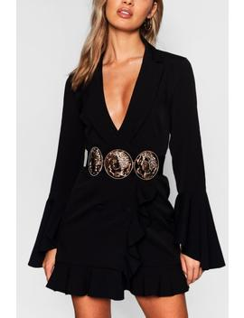 Coin Buckle And Chain Waist Belt by Boohoo