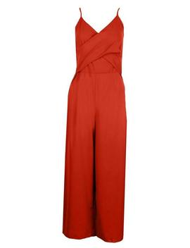 Tall Twist Front Culotte Jumpsuit by Boohoo