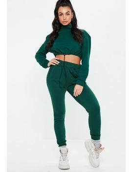 Green Co Ord Slim Leg Joggers by Missguided