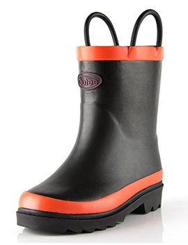 Outee Toddler Kids Solid Rubber Rain Boots by Outee