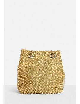 Gold Embellished Bag by Missguided