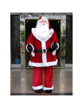 Vickerman Huge 6 Foot Life Size Decorative Plush Standing Santa Claus by Vickerman