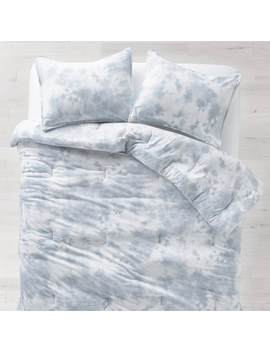 Tie Dye Jersey Duvet And Sham Set Dusty Blue by Dormify
