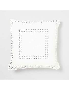 Square Gaga Double Nailhead Pillow by Dormify
