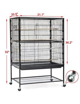 Yaheetech Large Play Top Bird Cage Parrot Finch Macaw Cockatoo Birdcages by Yaheetech Pet Supplies