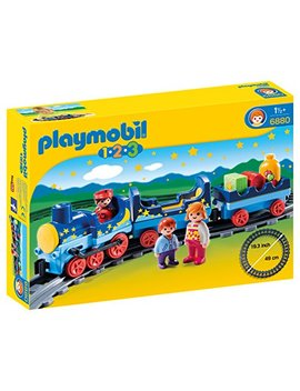 Playmobil 1.2.3 Night Train With Track by Playmobil®