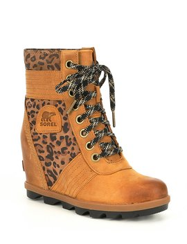 Lexie Leather Leopard Wedge by Sorel