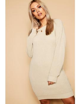 Plus Crew Neck Jumper Dress by Boohoo