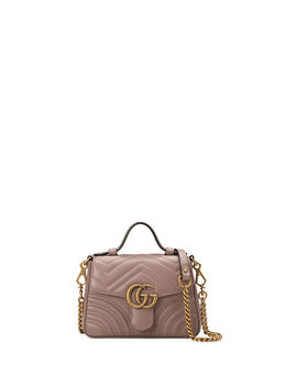 Gg Marmont Mini Chevron Leather Satchel Bag by Gucci
