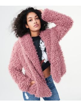 Lld Solid Fuzzy Yeti Coat by Aeropostale