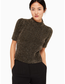 Metallic Texture Sweater by Kate Spade
