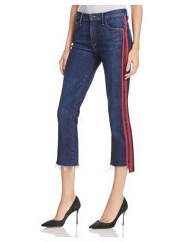 Insider Step Crop Fray Jeans In Speed Racer by Mother