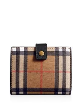 Vintage Check Small Leather Folding Wallet by Burberry