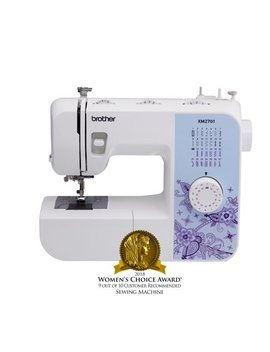 Brother Xm2701 Lightweight, Full Featured Sewing Machine With 27 Stitches, 1 Step Auto Size Buttonholer, 6 Sewing Feet, And Instructional Dvd by Brother Sewing Machines