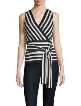 Winifred Stripe Wrap Top by Parker