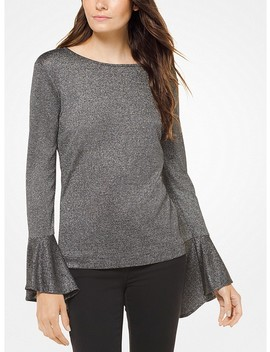 Metallic Bell Sleeve Pullover by Michael Michael Kors