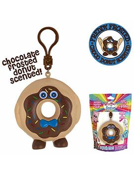 Whiffer Squishers Freddy Frosted Slow Rising Squishy Toy Chocolate Donut Scented Backpack Clip by Whiffer Sniffers