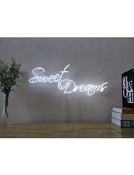 Sweet Dreams Real Glass Neon Sign For Bedroom Garage Bar Man Cave Room Home Decor Handmade Artwork Visual Art Dimmable Wall Lighting Includes Dimmer by Amazon