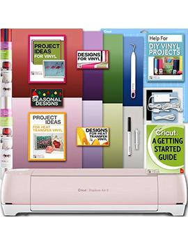 Cricut Explore Air 2 Machine Bundle With Beginner Guide, Iron On Foil, 12 X 12 Inch Mat, Weeder Tools, Designs by Cricut