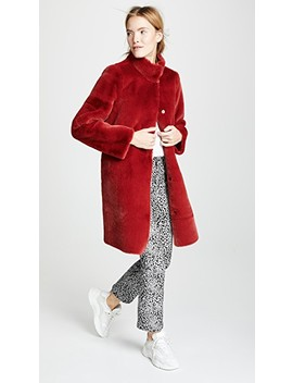 Mina Faux Fur Coat by Velvet