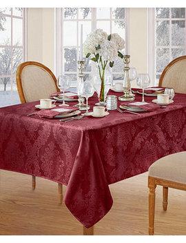 "Barcelona  Burgundy 60""X 84""  Tablecloth by Elrene"