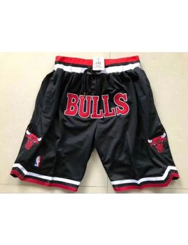 Men's Nba Basketball Game Shorts Chicago Bulls Vintage Nwt Stitched Black by Ebay Seller