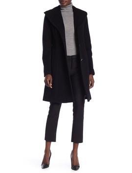 Wool Blend Shawl Collar Coat by Anne Klein