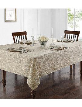 """Esmerelda 70"""" X 84"""" Tablecloth by Waterford"""