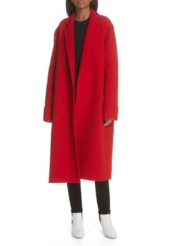 Belted Wool Blanket Coat by Helmut Lang