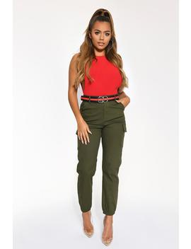 Khaki Cargo Trousers by I Saw It First