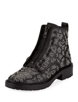 Cannon Studded Leather Zip Boots by Rag & Bone