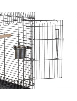 I Kayaa Wrought Iron Bird Parrot Cage Play Top Macaw Cockatoo Parakeet Conure Finch Cage by Parrot Cages