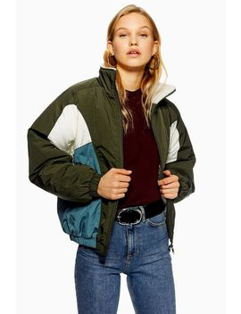 Borg Lined Windbreaker Jacket by Topshop