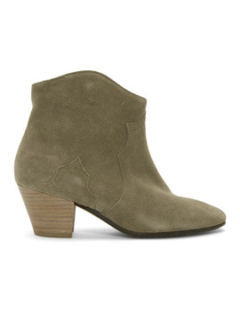 Tan Suede Dicker Boots by Isabel Marant
