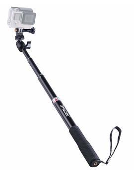 Smatree Extendable Aluminum Selfie Stick/Monopod For Go Pro Hero 7/6/5/4/3+/3/Session/Gopro Hero (2018) /Akaso Geek Pro Sjcam Sj4000 Sj5000 Xiaomi Yi Camera(Black)/ For Compact Cameras,Action Cameras by Smatree