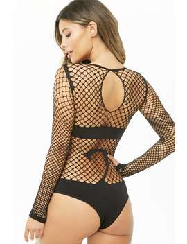 Leg Avenue Naught Kitty Industrial Net Bodysuit by Forever 21