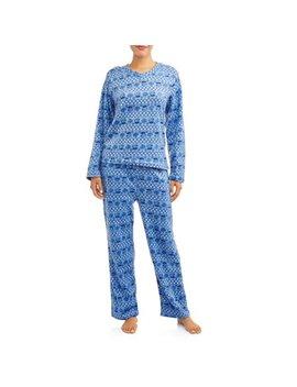 Mayfair Women's Minky Fleece 2 Piece Pajama Set by Mayfair