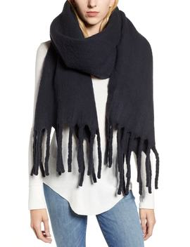 Solid Brushed Wool Blanket Scarf by Allsaints