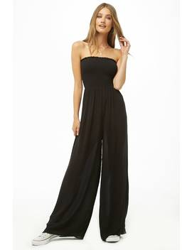 Smocked Tube Jumpsuit by Forever 21