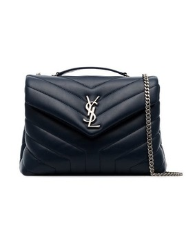 Midnight Blue Loulou Small Quilted Leather Shoulder Bag by Saint Laurent