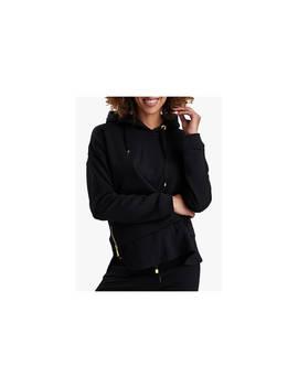 Barbour International Burnett Cotton Hoodie Sweatshirt, Black by Barbour