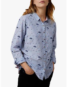 White Stuff Raindrop Stripe Shirt, Blue by White Stuff