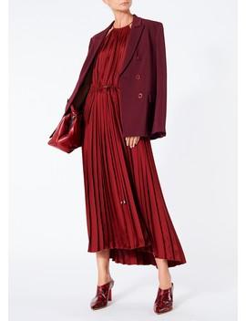 Mendini Twill Pleated Dress by Tibi