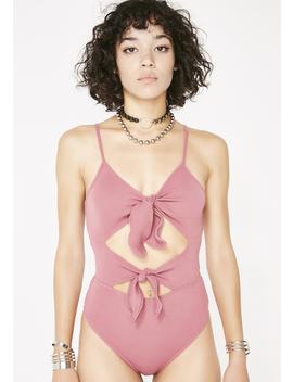 Rose Make It A Double Tie Bodysuit by Etophe Studios